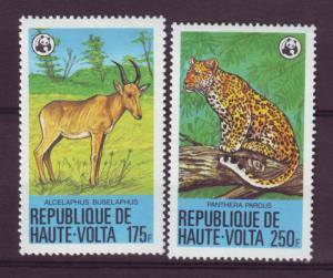J15539 JLstamps 1979 upper volta-burkina faso hv,s set mh #510-11 wwf animals