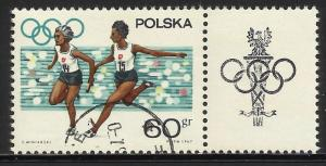Poland 1967 Scott# 1504 with Tab Used CTO