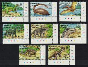 Solomon Is. Dinosaurs and Prehistoric Animals 8v Corners SG#1194-1201