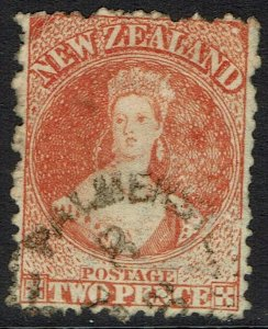 NEW ZEALAND 1873 QV CHALON 2D WMK NZ USED