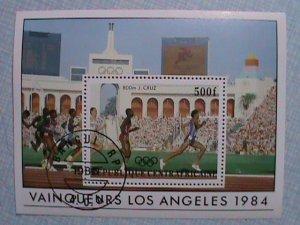 CENTRAL AFRICAN REPUBLIC: 1984, LOS ANGELES OLYMPIC SOUVENIR SHEET, CTO SHEET,