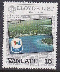 Vanuatu #368 single F-VF Mint NH ** Port Vila