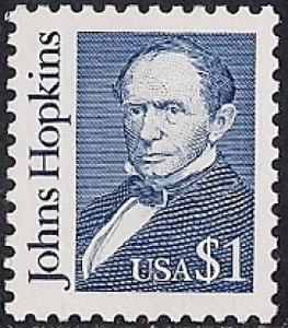 #2194C  1 Dollar Johns Hopkins mint OG NH XF
