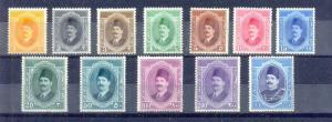 EGYPT - 1923 King FOUAD complete set Sc# 92-103 from 1 M to 1 Pound MNH**