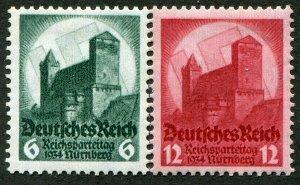 DeutschesReich  Sc.# 442-3  MH*       Mi.#  546-7
