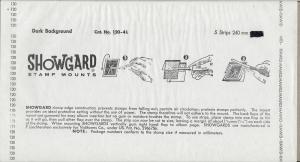 Showgard Mounts Size #120-4L 5 strips dk 8 1/2'' long $2.95