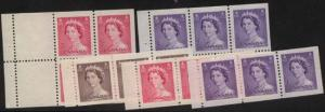 Canada - 1953 QE Karsh 5 Different Booklet Panes mint