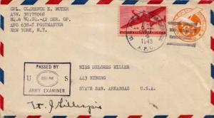 United States, U.S. A.P.O.'s, Postal Stationery, Censored