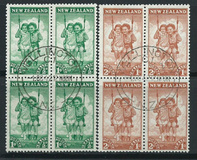 New Zealand SG 634 & SG 635  Blocks of 4 Very Fine Used