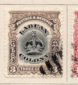 Labuan 1902 Early Issue Fine Used 3c. 206128