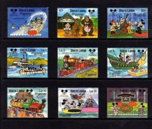 SIERRA LEONE - 1987 - DISNEY - TOKYO DISNEYLAND - MICKEY - 9 X MINT - MNH SET!