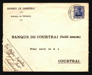 France 1918 Occupation Cover Renaix to Coutrai Via Gent - Z17090