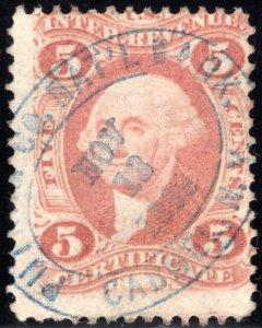 R24c, 5c Certificate Revenue, perf, Used, PUTNAM CO. NAT'L BANK / CARMEL N.Y.