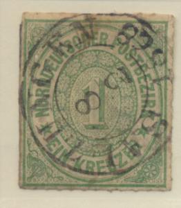 North German Confederation Stamp Scott #7, Used - Free U.S. Shipping, Free Wo...