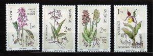 J23070 JLstamps 1982 sweden mnh set #1419a-d flowers