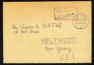GERMANY FRENCH ZONE 1947 POSTAGE PAID Cover REUTLINGEN to USA