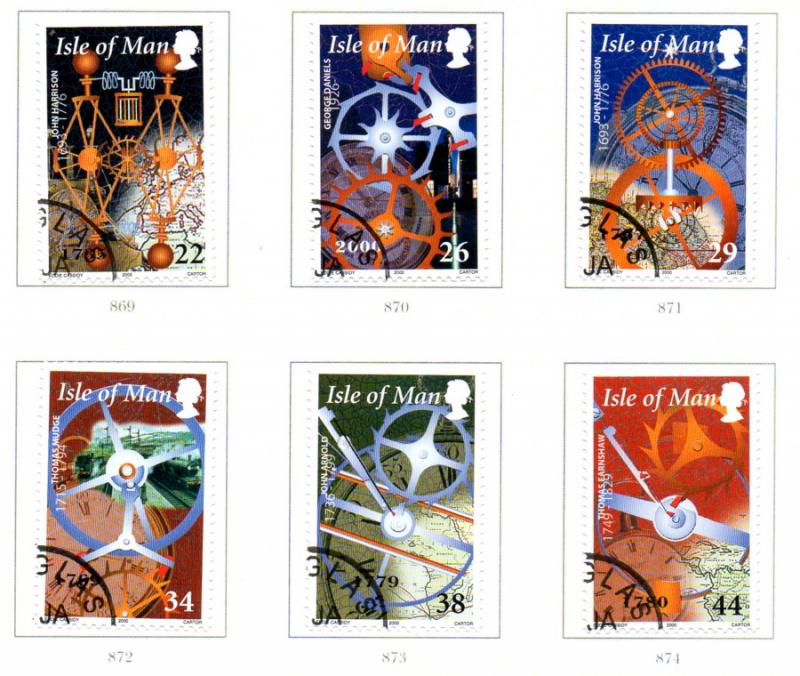Isle of Man Sc 851-6 2000 Story of Time stamp set used