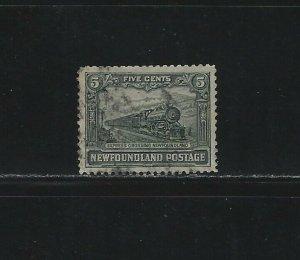 NEWFOUNDLAND - #167 - 5c EXPRESS TRAIN USED STAMP