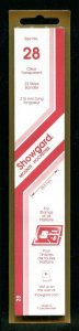 CLEAR Showgard Strip Mounts Size 28 = 28.5mm Fresh New Stock Unopened CLEAR