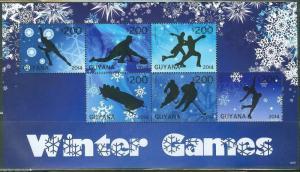 GUYANA 2014 WINTER OLYMPIC GAMES  SHEET II  MINT NH