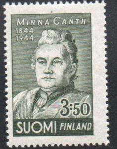 Finland Sc 244 1944 Minna Canth stamp mint NH