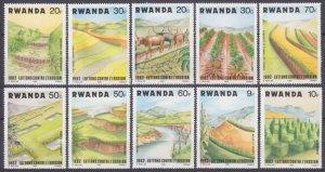 1983 Rwanda 1224-1233 Fauna and flora 8,00 €