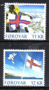 Faroe Islands Sc 643-4 2015 Flag stamp set mint NH