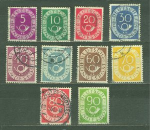 GERMANY - STAMPS, 1951, FEDERALE DEUTSCHE BUNDESPOST, USED