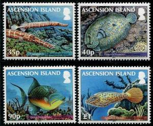 HERRICKSTAMP ASCENSION Sc.# 1050-53 Reef Fish II