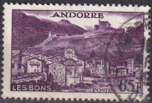 Andorra (Fr) #140 F-VF Used CV $6.50 (Z9622)
