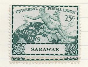Sarawak 1949 UPU Early Issue Fine Mint Hinged 25c. 198012