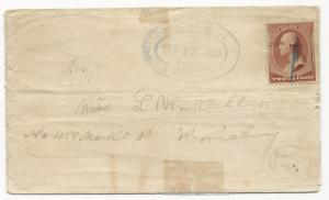 VA Cover US Scott #210 Fancy Dunmore, WV Cancel September 17, 1886