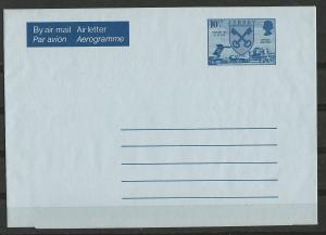 Great Britain-Jersey  Aerogramme  10½p  Arms - Airport Scene  (1) Mint