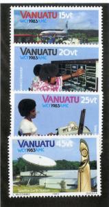 VANUATU 360-363 MNH SCV $2.15 BIN $1.25 TELECOMMUNICATIONS