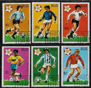1981 Belize 601-6 World Cup Soccer C/S CTO