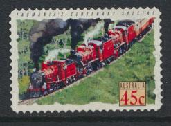 Australia SG 1411  Used  -Trains self adhesive