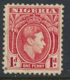 Nigeria  SG 50  SC# 54  Used  Carmine 1938 Definitive please see scan