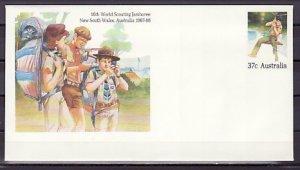 Australia, 1987 issue. 16th Scout Jamboree Postal Envelope. ^