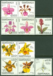 EDW1949SELL :  GUATEMALA 1978 Sc #C652-71 Flowers. Complete set. VF MNH Cat $60.