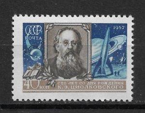 Russia/USSR 1957 Space Konstantin Tsiolkovsky, Scott # 1991,VF MNH** (RN-14)