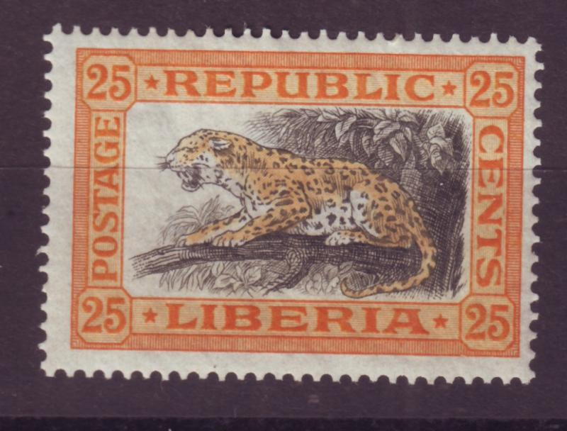 J16900 JLstamps 1921 liberia part of set mh #188 leopard