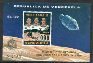 1969  VENEZUELA  -  SG: MS2099  - 1st MAN ON MOON - APOLLO 11 - UNMOUNTED MINT
