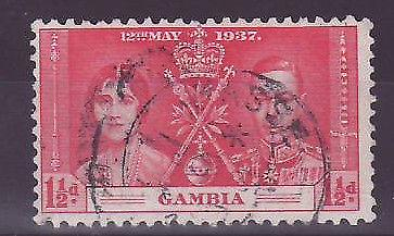 Low Gambia Gambia Cancelled 1 1/2d been worth Coronation