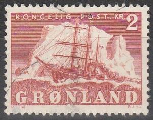 Greenland #37 F-VF Used CV $3.25 (S4477)