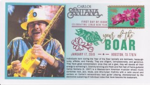 6° Cachets 5340 Lunar New Year of the Boar Carlos Santana with DCP