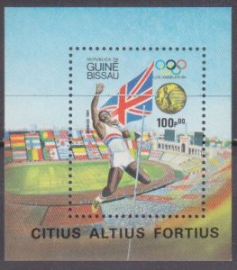 1984 Guinea-Bissau 825/B261 1984 Olympic Games in Los Angeles