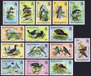 Montserrat 524-538 SPECIMEN,MNH.Michel 538-552. Birds 1984.Cattle egret,Doves,