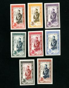 Monaco Stamps # 247-52 + C34, 35 XF OG NH Imperf Set of 8