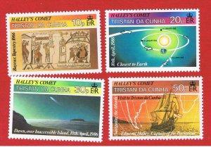 Tristan da Cunha #384-387  MNH OG  Comet Due  Free S/H