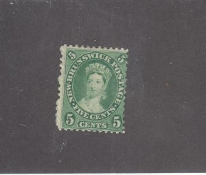 NEW BRUNSWICK # 8 F-MNG 5cts 1860 QUEEN VICTORIA /YELLOW GREEN /CENTS ISSUE
